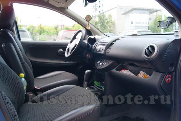 фото передних сидений Nissan Note