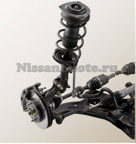 фото передней подвеска Nissan