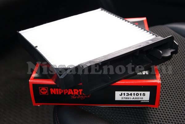 замена фильтра салона Nissan Note